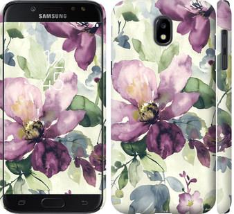 Чехол на Samsung Galaxy J5 J530 (2017) Цветы акварелью