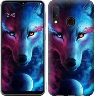 Чехол на Samsung Galaxy A20e A202F Арт-волк