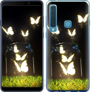 Чехол на Samsung Galaxy A9 (2018) Светящиеся бабочки