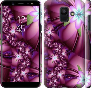 Чехол на Samsung Galaxy A6 2018 Цветочная мозаика
