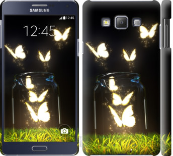 Чехол на Samsung Galaxy A7 A700H Светящиеся бабочки