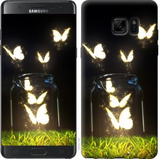 Чехол на Samsung Galaxy Note 7 Duos N930F Светящиеся бабочки