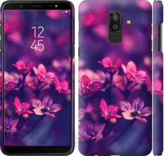 Чехол на Samsung Galaxy J8 2018 Пурпурные цветы