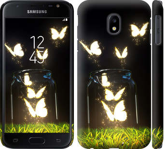 Чехол на Samsung Galaxy J3 (2017) Светящиеся бабочки