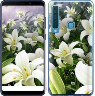 Чехол на Samsung Galaxy A9 (2018) Белые лилии