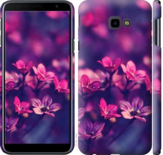 Чехол на Samsung Galaxy J4 Plus 2018 Пурпурные цветы