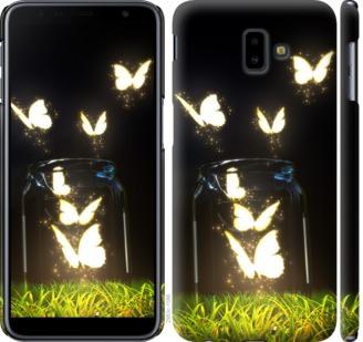 Чехол на Samsung Galaxy J6 Plus 2018 Светящиеся бабочки
