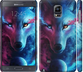 Чехол на Samsung Galaxy Note 4 N910H Арт-волк