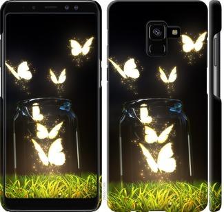 Чехол на Samsung Galaxy A8 Plus 2018 A730F Светящиеся бабочки