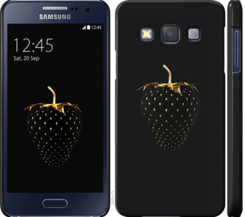Чехол на Samsung Galaxy A3 A300H Черная клубника