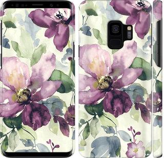 Чехол на Samsung Galaxy S9 Цветы акварелью
