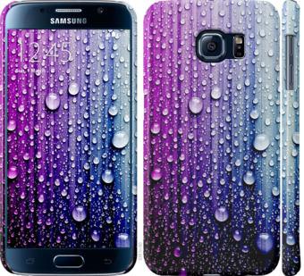 Чехол на Samsung Galaxy S6 G920 Капли воды