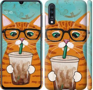 Чехол на Samsung Galaxy A70 2019 A705F Зеленоглазый кот в очках