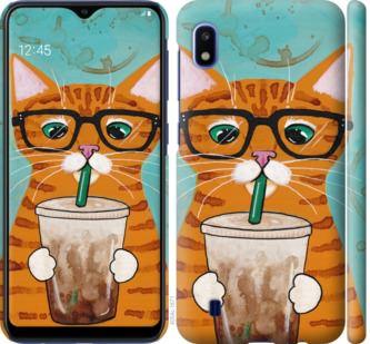 Чехол на Samsung Galaxy A10 2019 A105F Зеленоглазый кот в очках