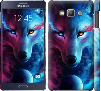 Чехол на Samsung Galaxy A7 A700H Арт-волк