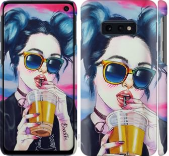 Чехол на Samsung Galaxy S10e Арт-девушка в очках