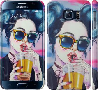 Чехол на Samsung Galaxy S6 G920 Арт-девушка в очках