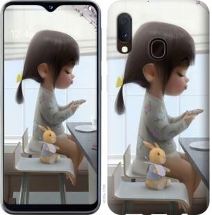 Чехол на Samsung Galaxy A20e A202F Милая девочка с зайчиком
