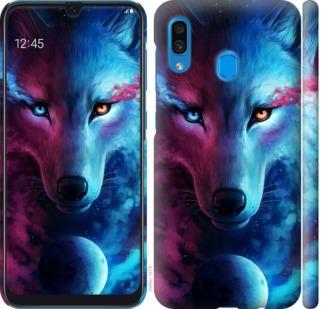 Чехол на Samsung Galaxy A20 2019 A205F Арт-волк