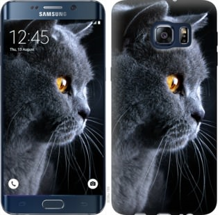 Чехол на Samsung Galaxy S6 Edge Plus G928 Красивый кот