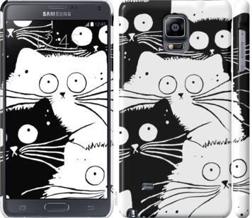Чехол на Samsung Galaxy Note 4 N910H Коты v2
