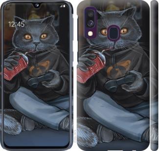 Чехол на Samsung Galaxy A40 2019 A405F gamer cat