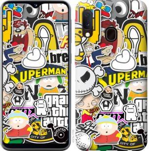 Чехол на Samsung Galaxy A20e A202F Popular logos