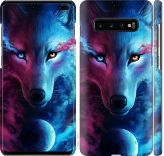 Чехол на Samsung Galaxy S10 Plus Арт-волк