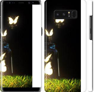 Чехол на Samsung Galaxy Note 8 Светящиеся бабочки