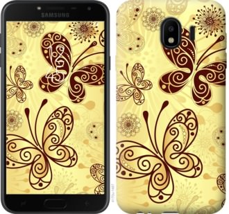 Чехол на Samsung Galaxy J4 2018 Красивые бабочки