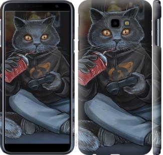 Чехол на Samsung Galaxy J4 Plus 2018 gamer cat
