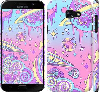 Чехол на Samsung Galaxy A5 (2017) Розовая галактика