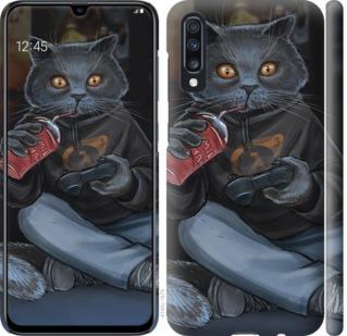 Чехол на Samsung Galaxy A70 2019 A705F gamer cat