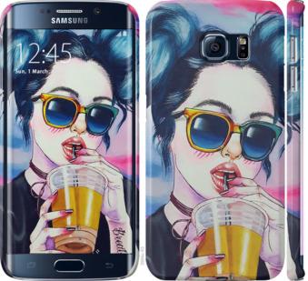 Чехол на Samsung Galaxy S6 Edge G925F Арт-девушка в очках