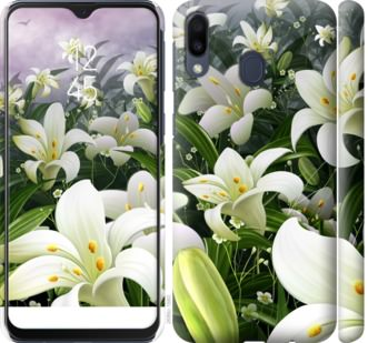 Чехол на Samsung Galaxy M20 Белые лилии