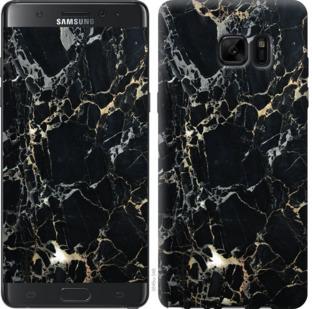 Чехол на Samsung Galaxy Note 7 Duos N930F Черный мрамор