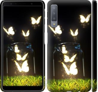 Чехол на Samsung Galaxy A7 (2018) A750F Светящиеся бабочки