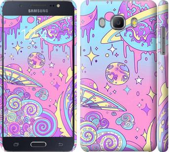 Чехол на Samsung Galaxy J5 (2016) J510H Розовая галактика