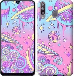 Чехол на Samsung Galaxy M30 Розовая галактика