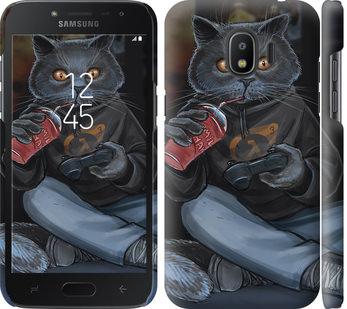 Чехол на Samsung Galaxy J2 2018 gamer cat