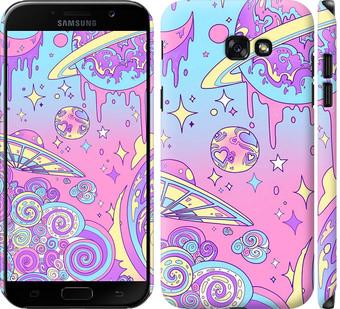 Чехол на Samsung Galaxy A7 (2017) Розовая галактика