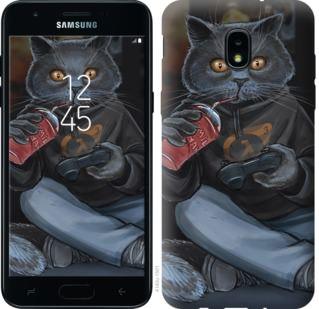 Чехол на Samsung Galaxy J3 2018 gamer cat