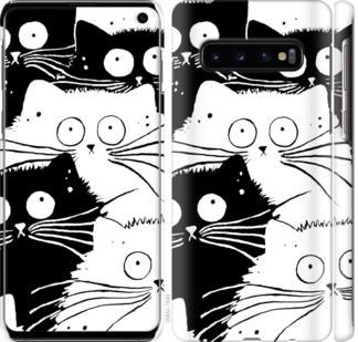 Чехол на Samsung Galaxy S10 Коты v2