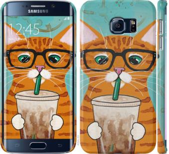Чехол на Samsung Galaxy S6 Edge G925F Зеленоглазый кот в очках