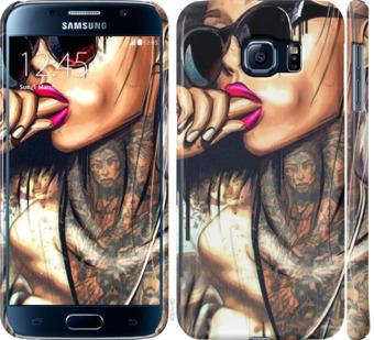Чехол на Samsung Galaxy S6 G920 Девушка в тату