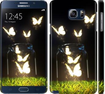 Чехол на Samsung Galaxy Note 5 N920C Светящиеся бабочки
