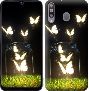 Чехол на Samsung Galaxy M30 Светящиеся бабочки