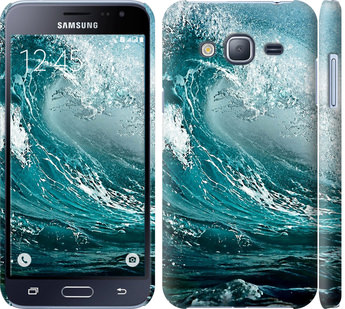 Чехол на Samsung Galaxy J3 Duos (2016) J320H Морская волна