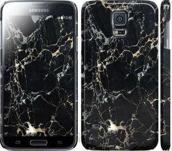 Чехол на Samsung Galaxy S5 g900h Черный мрамор