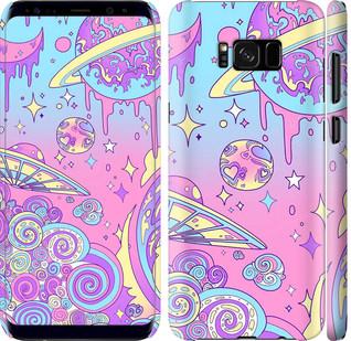 Чехол на Samsung Galaxy S8 Plus Розовая галактика